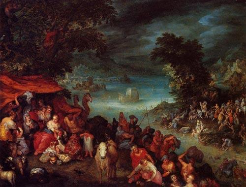 Ян Брейгель (Старший). «Потоп и Ноев ковчег»