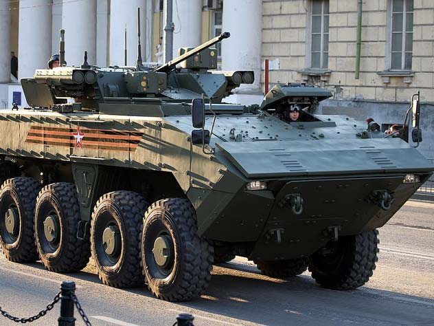 БМП «Бумеранг» на Параде Победы. Москва, 9 мая 2016 года. wikipedia