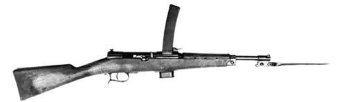Оригинальный пистолет-пулемет Beretta M-1918 с примкнутым штыком. Источник: wikipedia.org