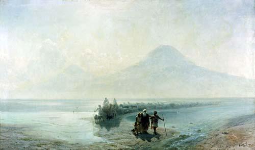 Иван Айвазовский, Сошествие Ноя с горы Арарат, 1889 г. wikimedia