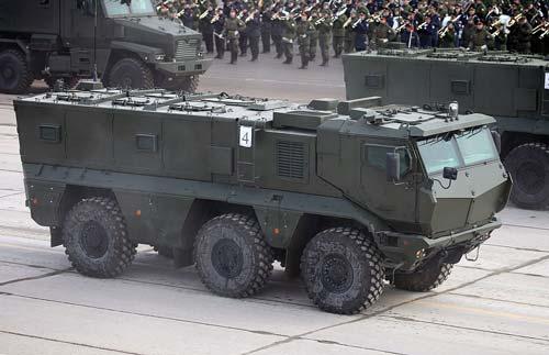 КАМАЗ-63968 «Тайфун-К» на репетиции Парада Победы в 2016 году. Полигон Алабино. Источник: wikipedia.org