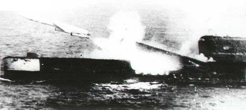 Запуск крылатой ракеты с борта подводной лодки проекта 675, к которому относилась и К-56. Источник: wikimedia.org