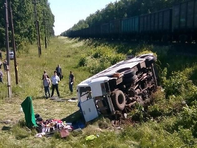 Cтолкновение на переезде в Орловской области унесло жизнь 4 человек