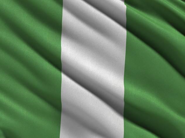 Флаг африканской страны Нигерии.
