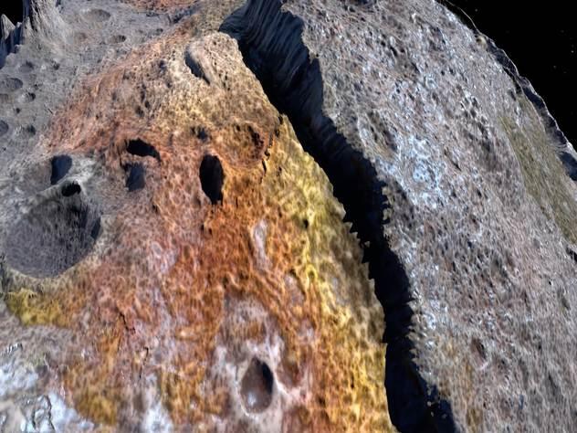 Астероид 16 Psyche, с которого начнется программа по добыче полезных ископаемых.