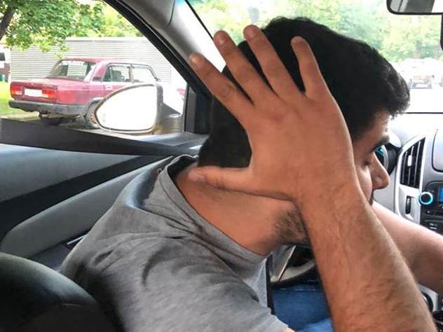 Мексиканец хотел сфотографировать водителя, но он закрылся рукой