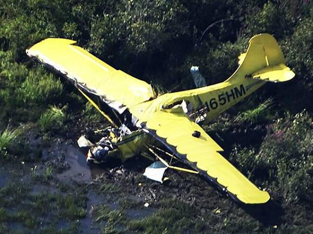 И пилот, и пассажир легкомоторного самолета выжили при крушении