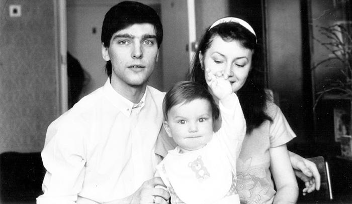 С женой Еленой и их сыном Владиком